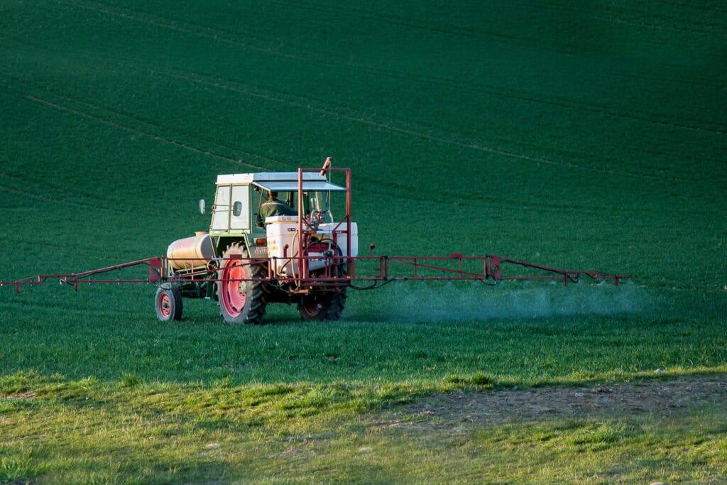 truck spraying herbicide